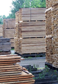 air drying lumberyard