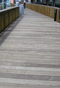 Ipe boardwalk at Johns Pass
