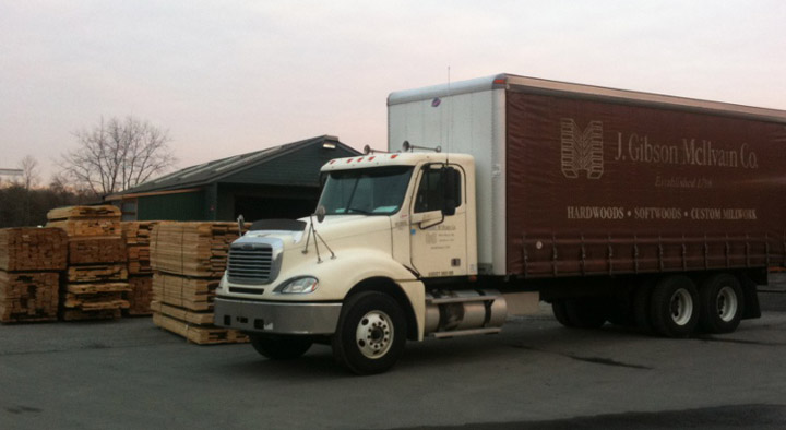J Gibson McIlvain lumber yard truck