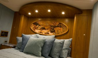 teak in yacht bedroom