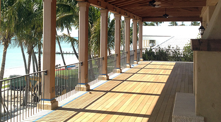 teak porch floor