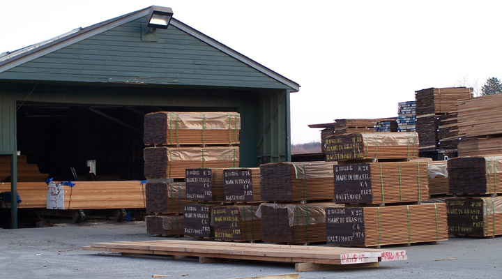 stacks of lumber at mcilvain